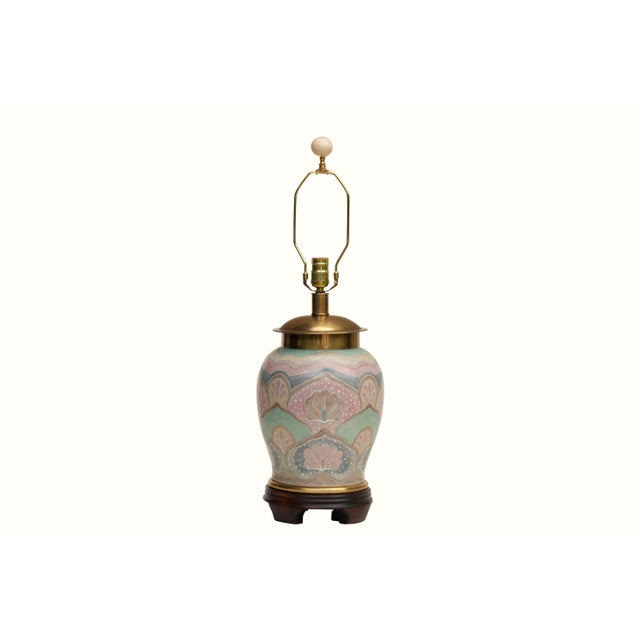 Blue Frederick Cooper Ming Style Ceramic Table Lamp For Sale - Image 8 of 8