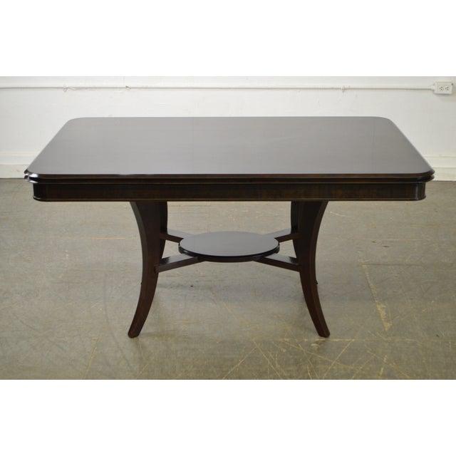 Jonathan Charles Kallos Custom Mahogany Dining Table - Image 8 of 11