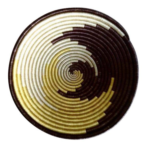 African Boho Woven Basket - Image 1 of 6