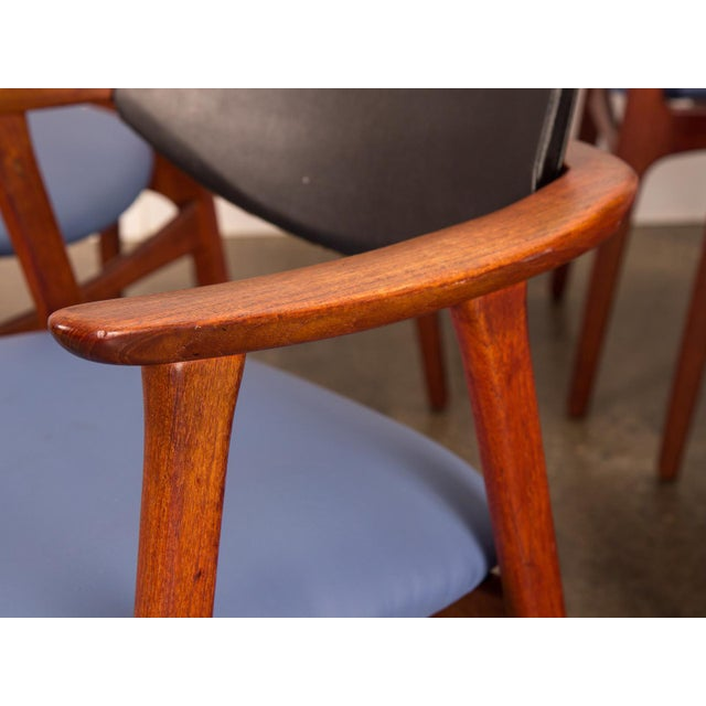 Set of 6 Erik Buck Style Teak Dining Chairs - Image 9 of 11
