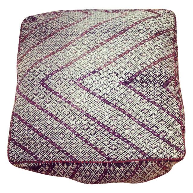 Vintage Moroccan Kilim Sitting Cushion - Image 1 of 6