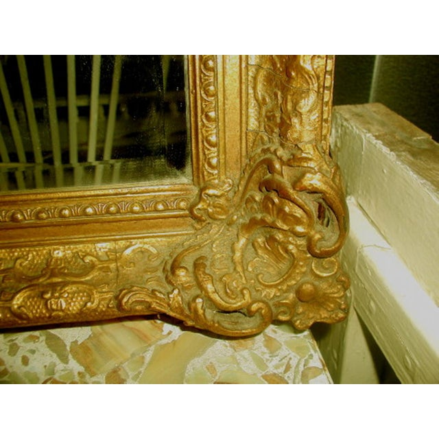 French 19th C. Carved Gilt Frame & Beveled Mirror - Image 8 of 10