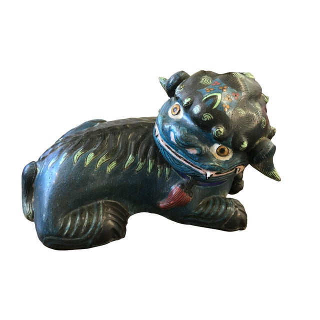 Early 20th Century 20th Century Chinese Cloisonné Foo Dog For Sale - Image 5 of 5