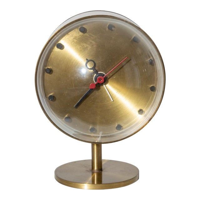 George Nelson Model 4766 Brass Clock for Howard Miller For Sale