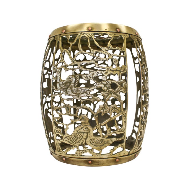 Asian Brass Chinosiere Garden Stool - Image 1 of 9