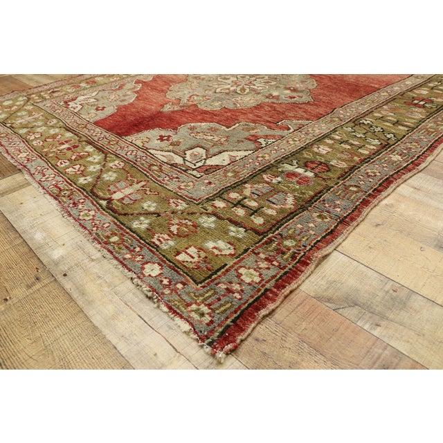 Textile Vintage Turkish Oushak Gallery Rug, Wide Hallway Runner - 05'01 X 11'04 For Sale - Image 7 of 11