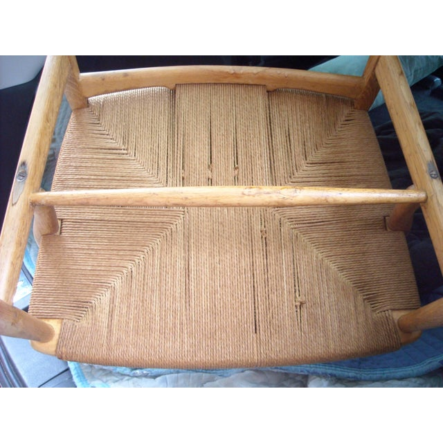 1950s VintageCarl Hansen for Hans Wegner Ch22 Armchair For Sale In Los Angeles - Image 6 of 7