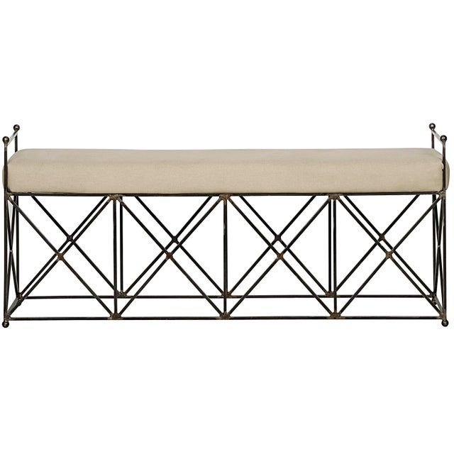 Mid-Century Modern Industry Bench For Sale - Image 3 of 3