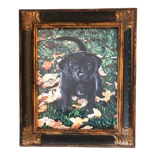 Black Lab Puppy Dog Print by Judy Henn For Sale