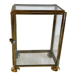 Vintage Glass & Brass Mini Curio Box