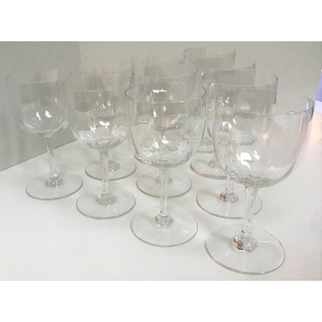 Early 21st Century Baccarat Montaigne Optic Crystal Wine Glasses Goblets- Set of 10 For Sale - Image 5 of 13