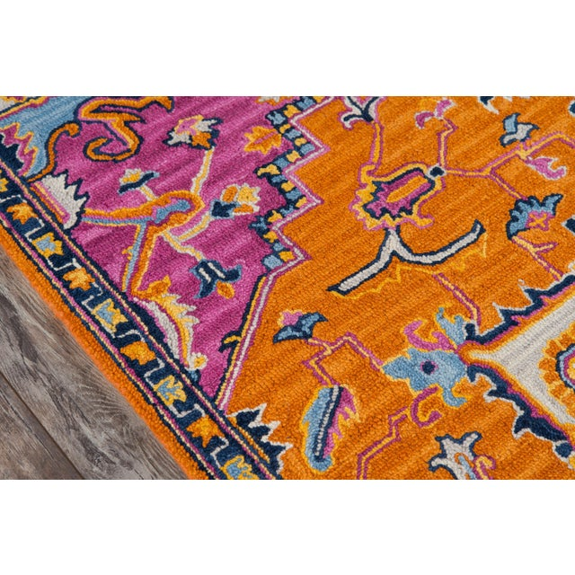 Traditional Ibiza Orange Hand Tufted Area Rug 8' X 10' For Sale - Image 3 of 8