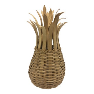 Vintage Pineapple Basket For Sale