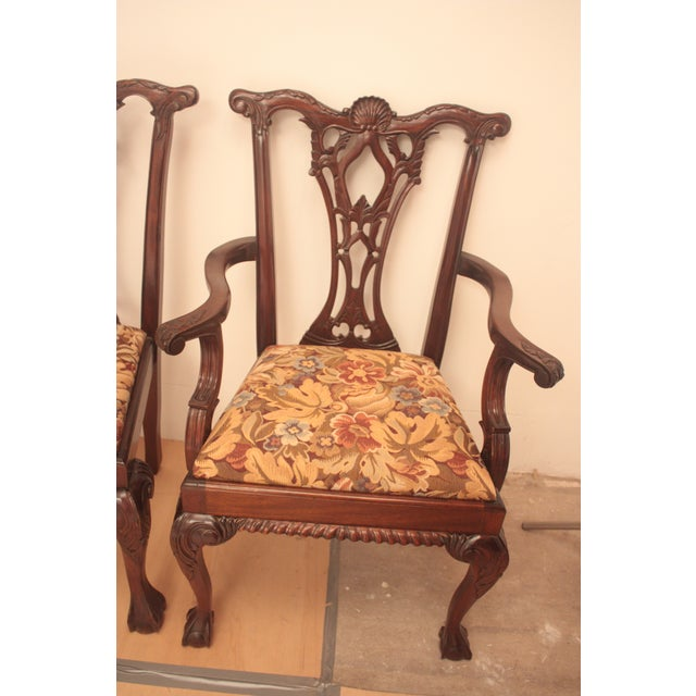 Chippendale Style Dining Chairs - Set of 6 - Image 6 of 11