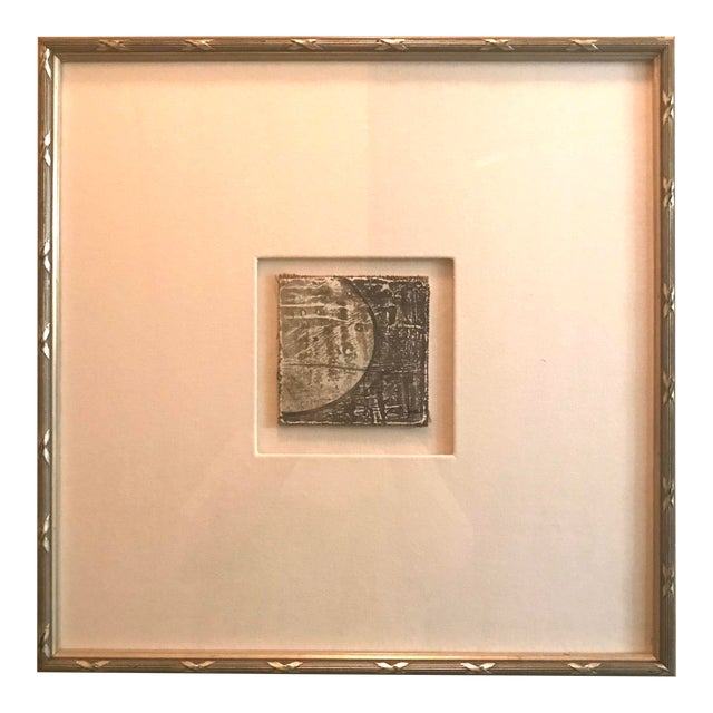 Small Matted Painting #4 With Silver Leaf Frame by Allen Kerr For Sale