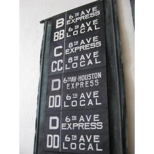 1980s NYC Complete MTA Destination Canvas Scroll Sign For Sale - Image 5 of 8