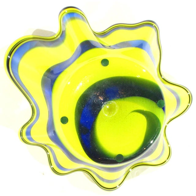 Pasargad N Y Multi Colored Handkerchief Shaped Blended Glaze Bowl For Sale In Washington DC - Image 6 of 8