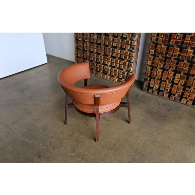 1950s Vintage Mid Century Rare Eugenio Gerli P28 Lounge Chair for Tecno For Sale - Image 5 of 12