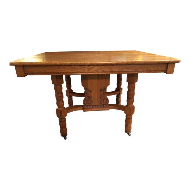 Antique Kitchen Table - Image 1 of 6