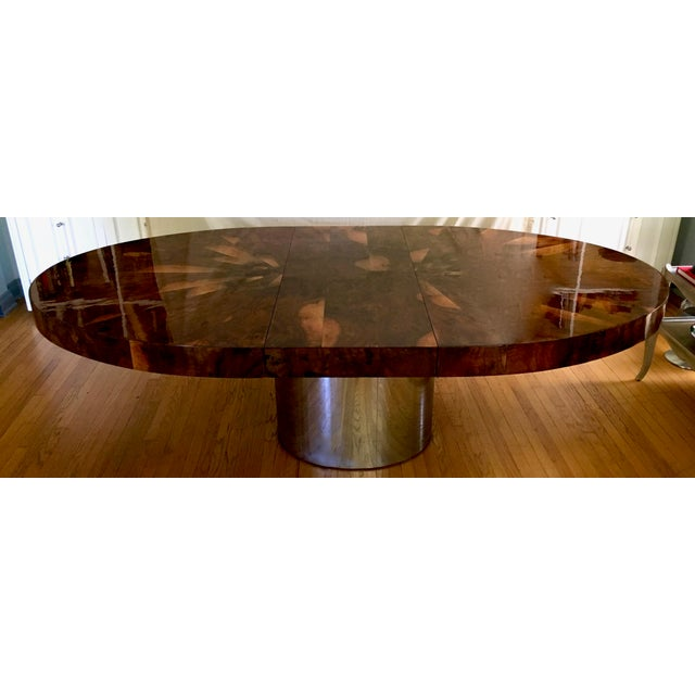 Paul Evans Race Track Burl Wood Oval Dining Table - Image 3 of 6