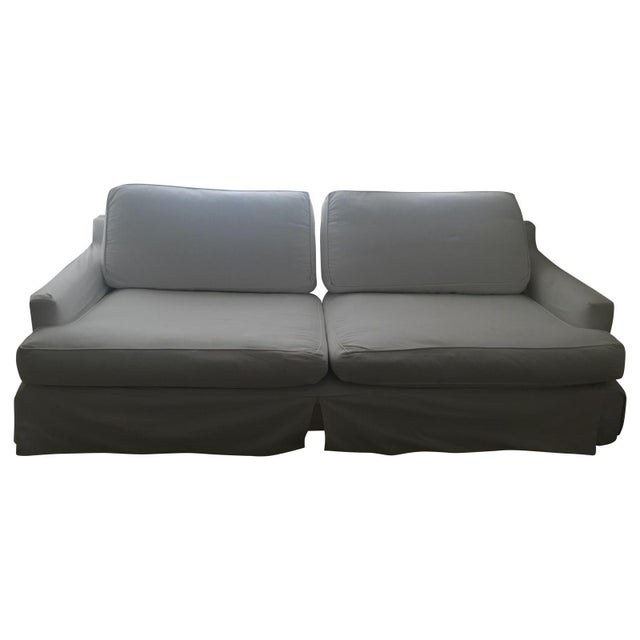 Shappy Chic Slip Cover Couch - Image 1 of 3