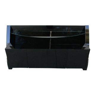 Modern Black Lacquered Credenza/Bar For Sale
