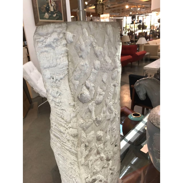 Metal Cast Stoneware Rock Shaped Lamps Marked AP - a Pair For Sale - Image 7 of 11