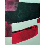 Image of Abstract Painting Acrylic on Wood For Sale
