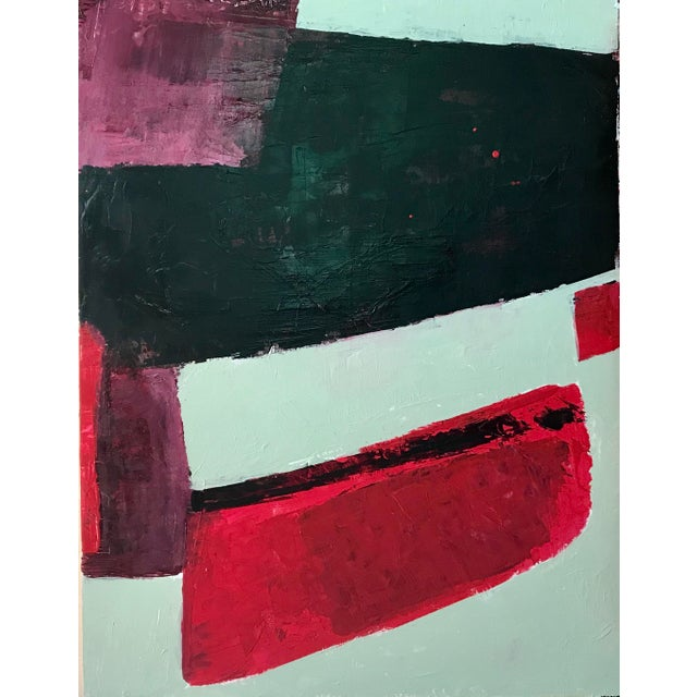 Abstract Painting Acrylic on Wood For Sale