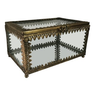 Ormolu Matson Style Jewelry Box Casket For Sale