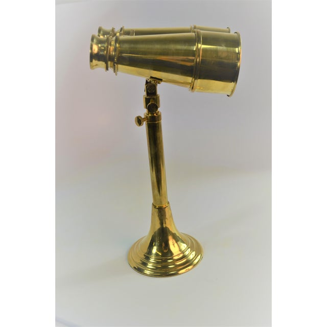 Brass Bungalow 5 Niels Brass Binoculars With Stand For Sale - Image 8 of 9
