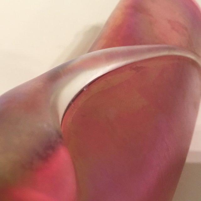 Zellique Studios Art Glass Pink Cranberry Vase For Sale In Dallas - Image 6 of 8