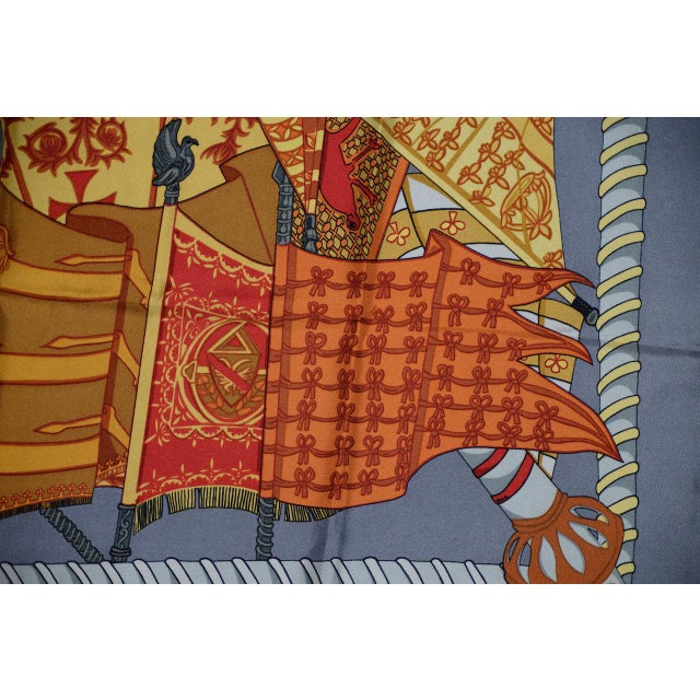 Hermes Flags & Banners Silk Scarf For Sale In San Francisco - Image 6 of 10