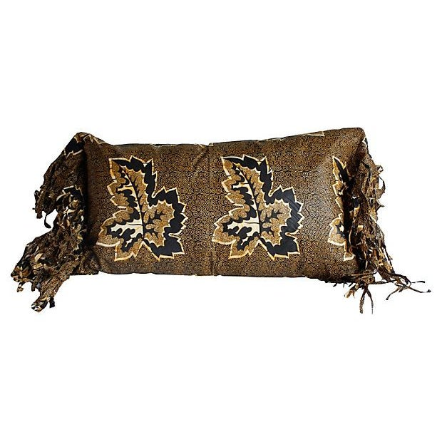 African Wax Print Textile Pillow For Sale - Image 4 of 4