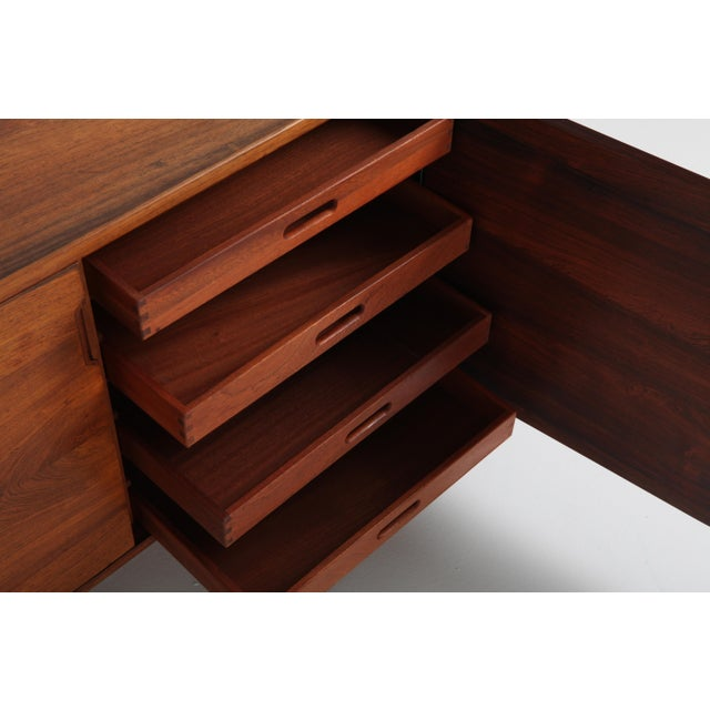 Scandinavian Modern Svend Langkilde Cabinet in Rosewood and Brass - 1950 For Sale - Image 10 of 11