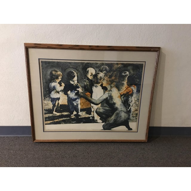 """1971 Ruth Weissberg lithograph titled """"The Gift"""" on arches paper pencil signed titled and numbered this lithograph is part..."""