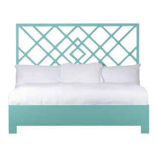 Darien Bed King - Turquoise For Sale