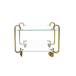 Gio Ponti - Trolley in Glass and Brass - Circa 1930 For Sale