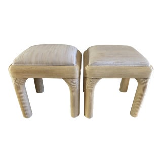 Vintage Retro Ottomans - A Pair