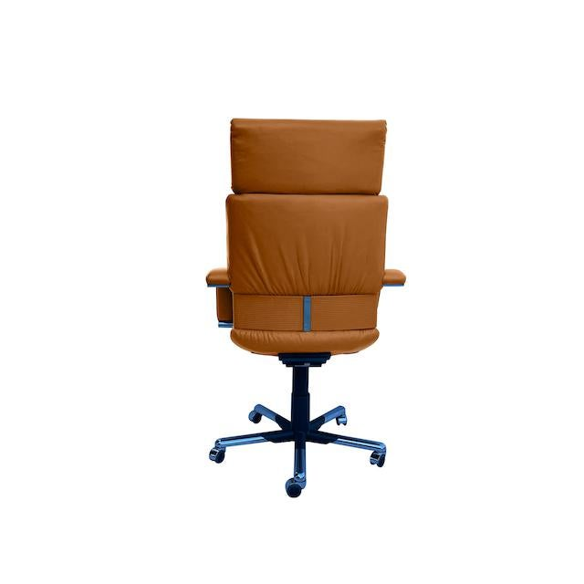 Vitra Mario Bellini Executive Swivel Chair in Leather For Sale - Image 4 of 13