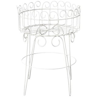 French Wire Basket Jardinière With Hairpin Legs For Sale