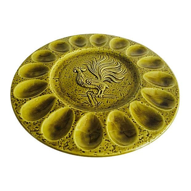 Vintage 1960s Deviled Eggs Plate - Image 3 of 4