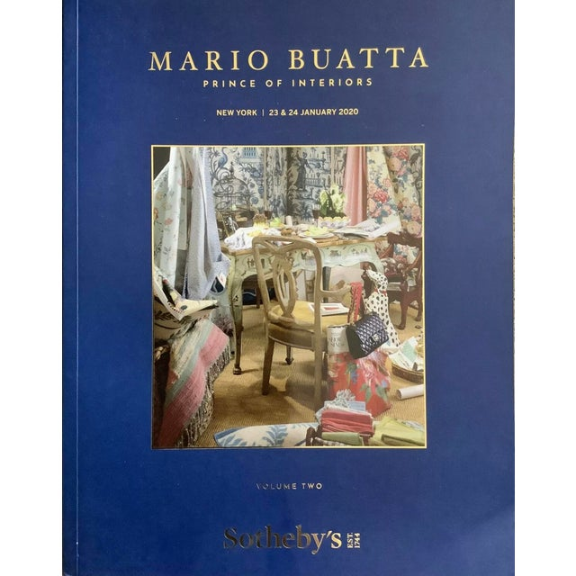 Mario Buatta: Prince of Interiors AUCTION Sotheby's Vol 1 & 2 - January 2020 2 volume, over 500 color illustrated pages...