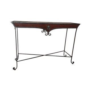 Gilded Iron Console Table