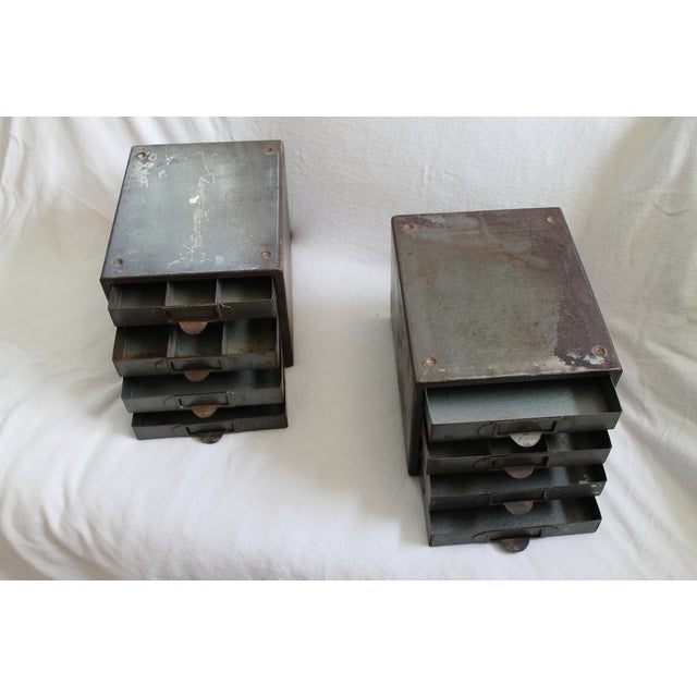 Industrial Metal Storage Desktop Cabinets - Image 7 of 11