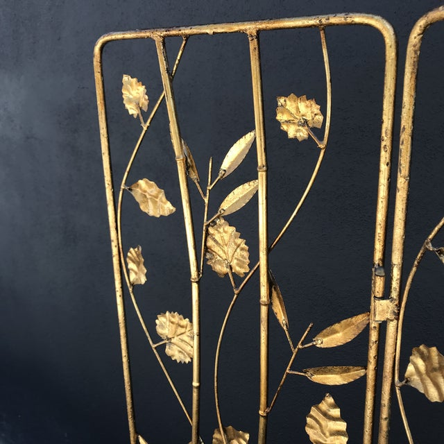 Vintage Italian Gilt Ironwork Tole Screen For Sale In Los Angeles - Image 6 of 10