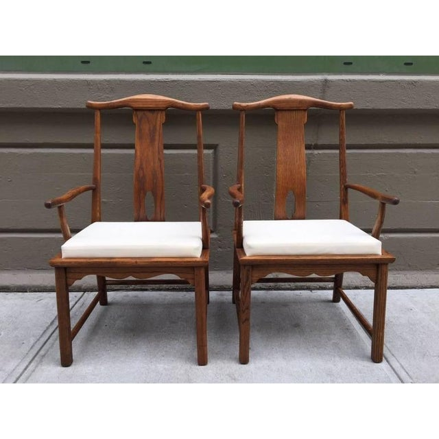 Exceptional Pair Of Asian Style Hardwood Side Chairs Decaso