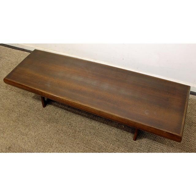 Mid-Century Danish Modern Adrian Pearsall Style Walnut Coffee Table - Image 5 of 11