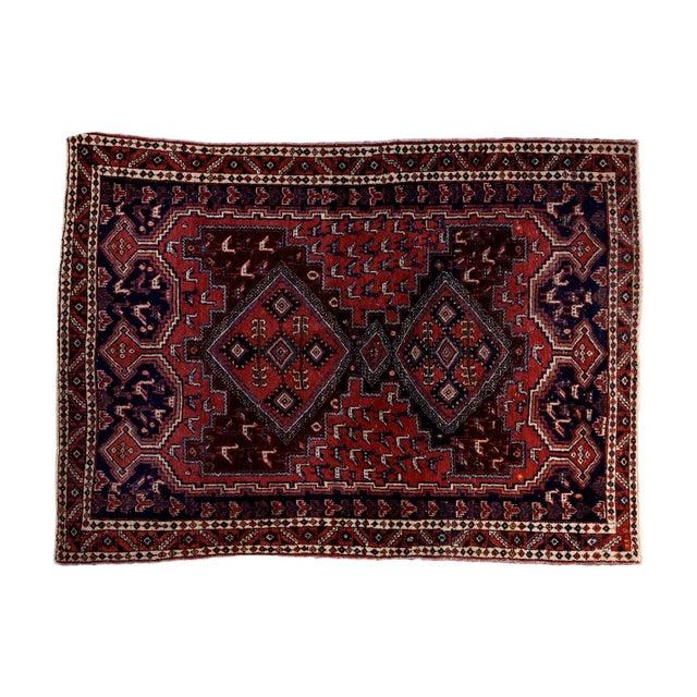 "Vintage Persian Afshar Rug - 3'6"" X 4'8"" - Image 1 of 8"