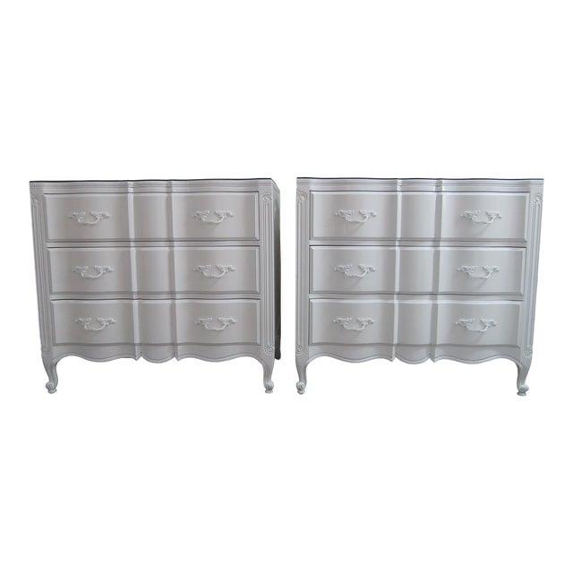Vintage French Glass Top Chest-A Pair For Sale